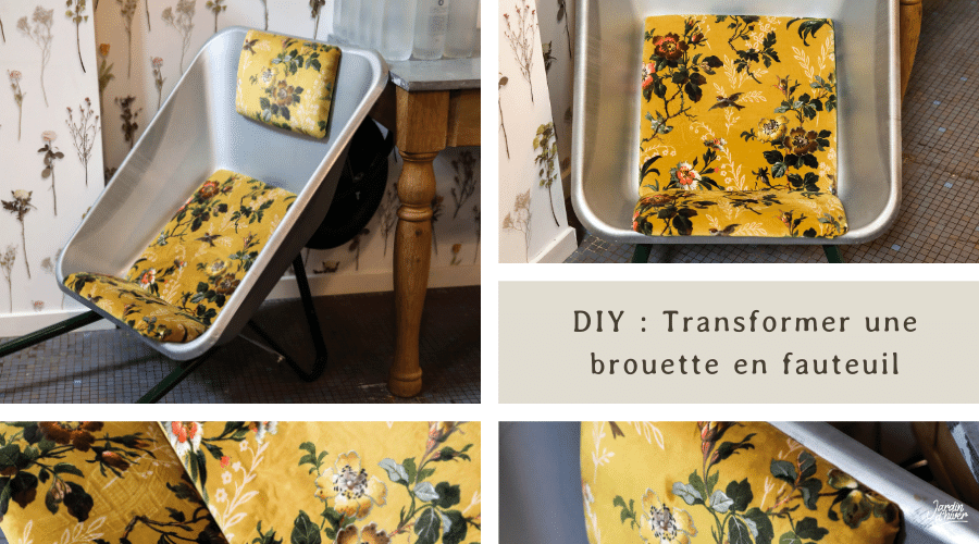 Transformer une brouette en fauteuil – DIY