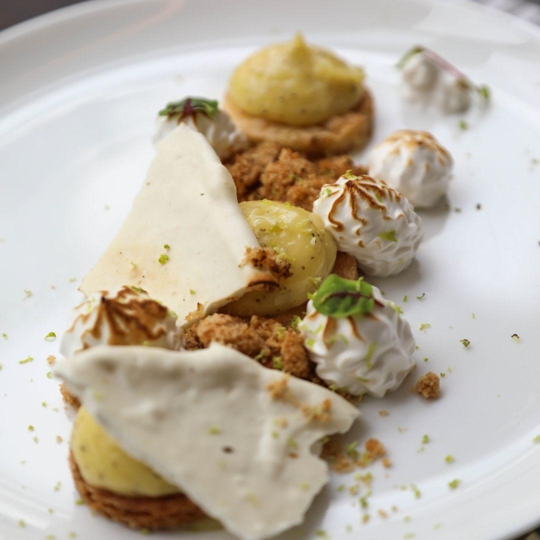 dessert au citron au jardin d'hiver restaurant bio à brest